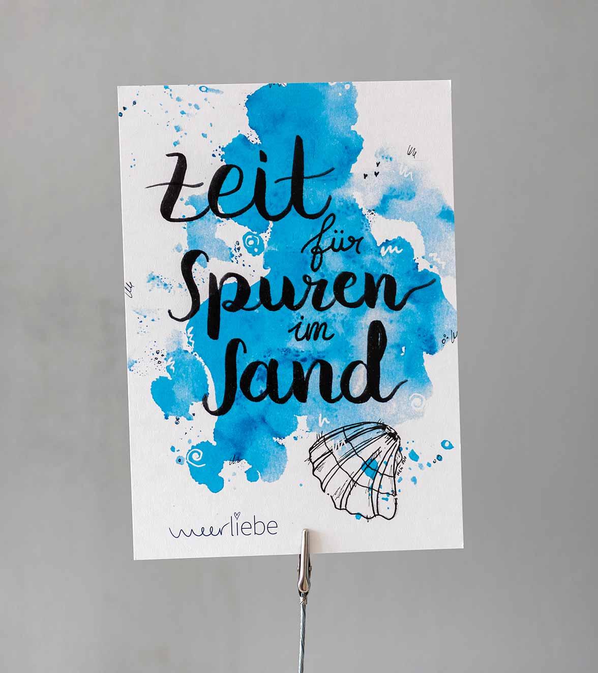 print-meerliebe-zeit-für-spuren-im-sand